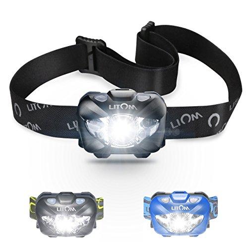 Headlamp,Litom LED Headlamp with Body Sensor , 6 Illumination Modes, Long Life, Portable Work Lights, Cycling Safety Reflectors for Camping, Hiking, ect(Waterproof )