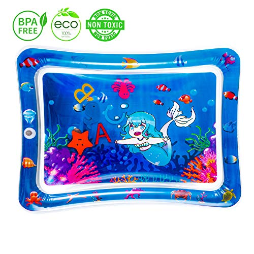GETFUNNOW Inflatable Tummy Time Premium Water mat Infants & Toddlers is The Perfect Fun time Play Activity Center Your Baby's Stimulation Growth