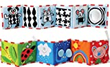 Kolamom Clip-On Baby Pram Carriage Crib Stroller Cloth Books Crinkle Soft Book for Babies Early Development Learning & Education Toys for Newborn Infants Toddlers Children Kids (cat)