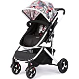 SI YU High Landscape Baby Trolley Can Infant Adjustable Pushchair Pram With Storage Basket Fold Portable Bidirectional Suspension For 0-3 years old (Color : Red)