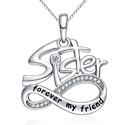 Sister Bear - NUMMY Always My Sister Forever My Friend Unqiue Trendy Design Pendant Necklace - Monther day Gift (Sister Forever My Friend)