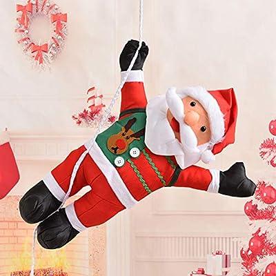 Fantasma gris Fantasma gris Nueva Navidad Papá Noel Escalar la cuerda Escalar Escalera Decoración colgante Papá Noel Jugar Colgar Decoración colgante para la fiesta de Navidad Inicio 60CM: Amazon.es: Hogar