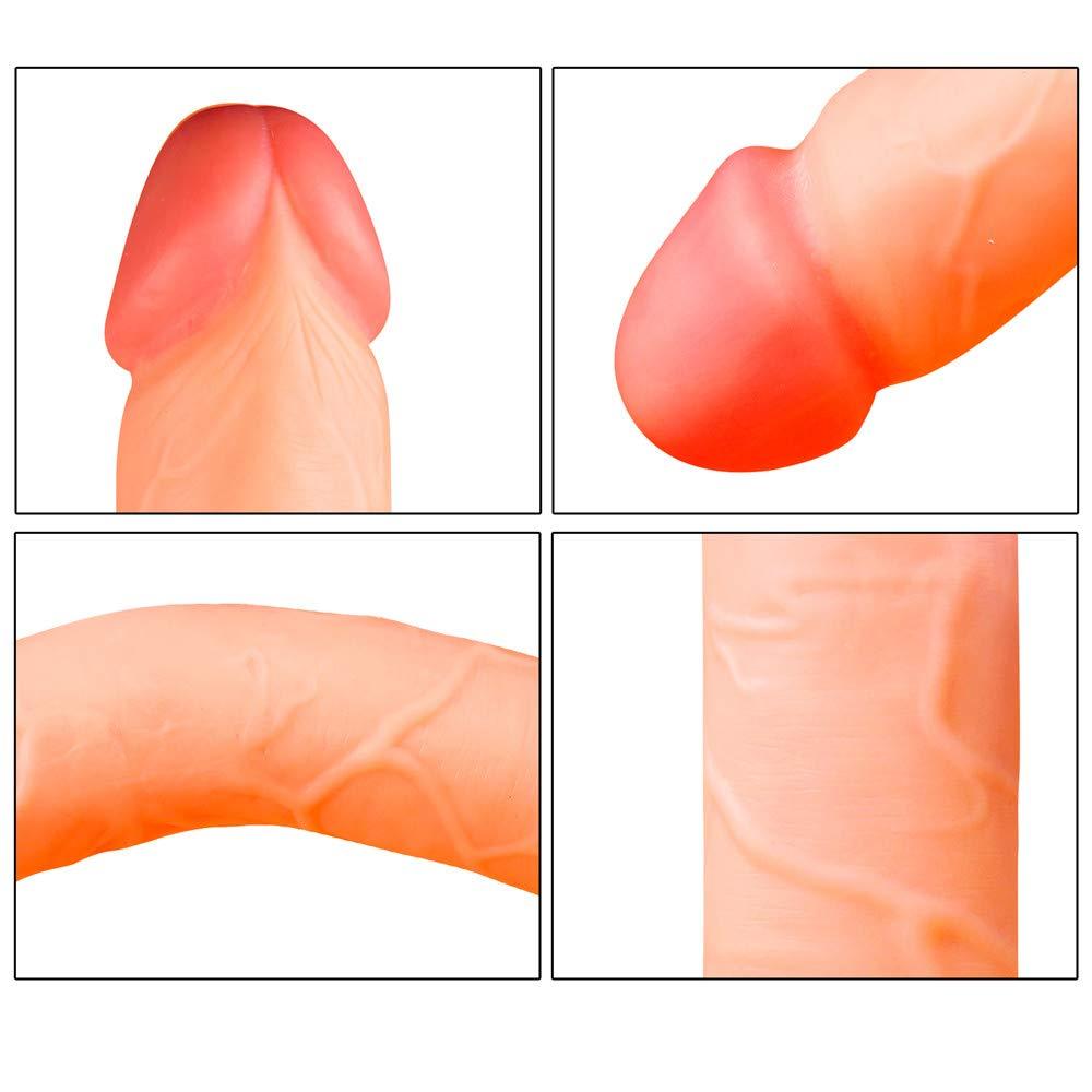 D-DOLL Cabeza Doble Cabeza D-DOLL Consoladores De Silicona 46Cm Extra Largo Realista Pene Mujeres Masturbación Mujer Masturbación Polla Gay Lesbianas Sexo Juguetes,Flesh d0d152