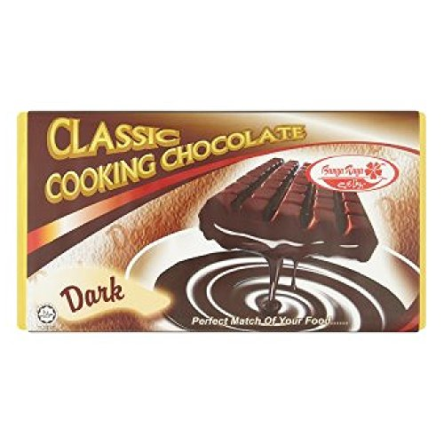 Bunga Raya Classic Dark Cooking Chocolate 200g (628MART) (3 Pack) by Bunga Raya (Image #1)