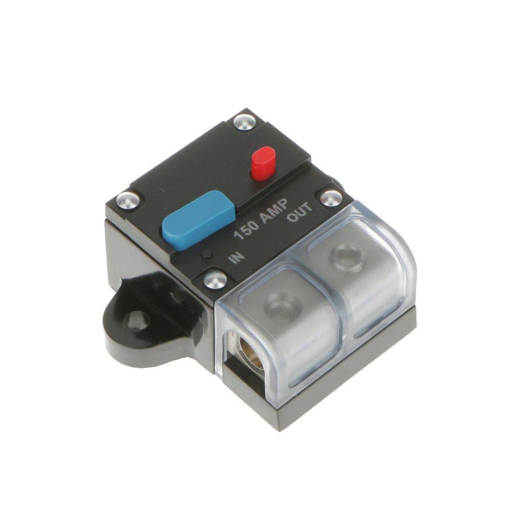MagiDeal High Current 150 Amp 0 or 4 Gauge AWG Circuit Breaker 12 Volt Car Audio Fuse