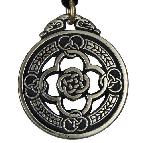 Pewter Celtic Knot Warrior Quatrefoil Shield (Celtic Warrior Jewellery)