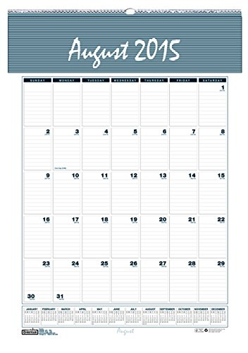 House of Doolittle 2015 - 2016 Academic Year Wall Calendar, Monthly, Bar Harbor, 12 x 17 Inches (HOD352-16)