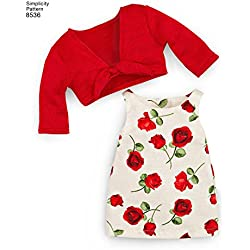 "Simplicity Sewing Pattern 8536 - American Girl 18"" Doll Clothes, OS (ONE SIZE)"