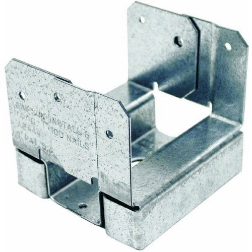 Simpson Strong Tie ABA44Z ZMAX Galvanized 16-Gauge 4x4 Adjustable Post Base 20-per box by Simpson Strong-Tie