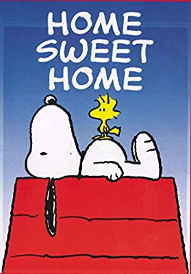 856dcc8009273b Peanuts Snoopy with His Friend Woodstock HOME SWEET HOME Garden Flag 12 X  18  Amazon.ca  Patio