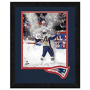 NFL New England Patriots Tedy Bruschi Framed Logo Mat, Blue, 13 x 16-Inch
