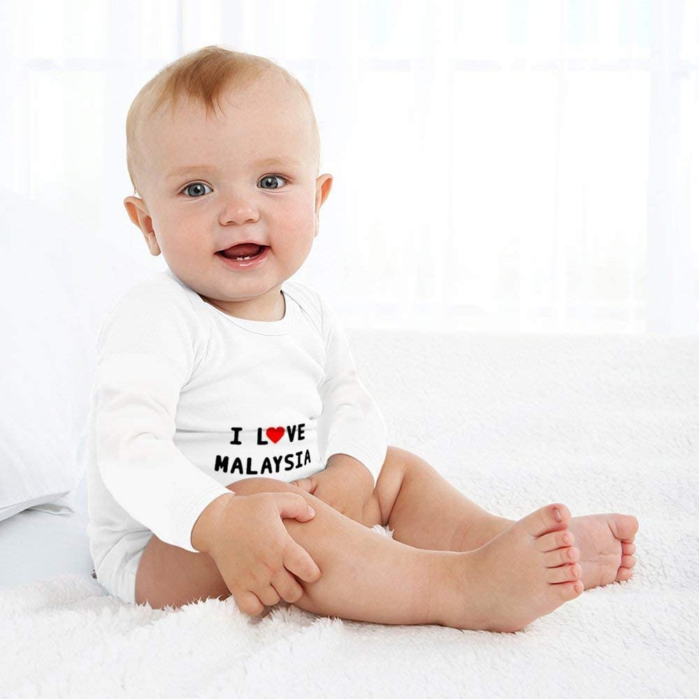 DKISEE Baby Onesie Soft Cotton Long Sleeve Bodysuit for Baby Girls or Boys Triangular Baby Jumpsuit Rompers 0-24 Months