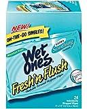Wet Ones Fresh 'n Flush, Personal Hygiene Wipes On-The-Go 24 ea