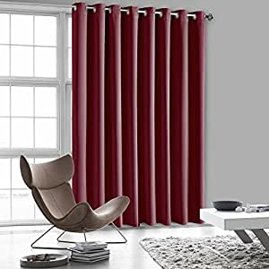"""Luxury Homes Premium Quality Thermal Insulated Blackout Curtains With Antique Bronze Grommet Ring Top - 104""""Wx84""""L (Burgundy)"""