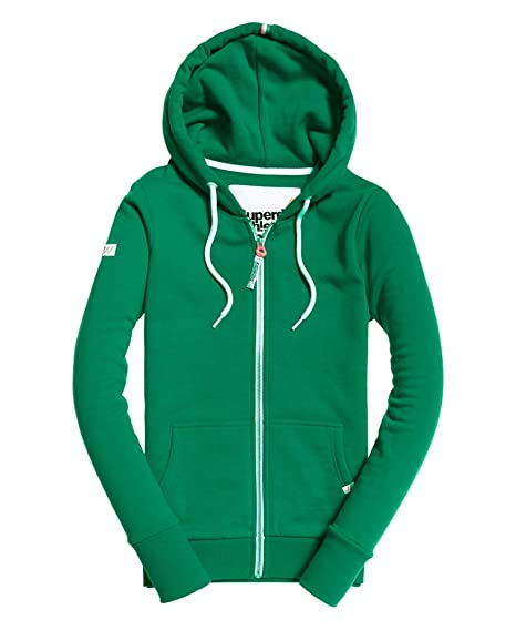 Superdry Sudadera Athletic Ziphood Verde Mujer XXS Verde