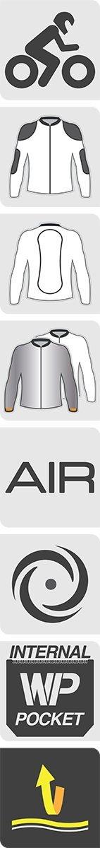 Black//White, Medium Alpinestars Womens Stella T-Jaws Air Jacket 2822-0876