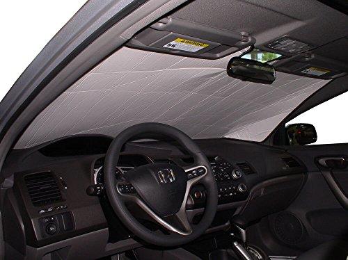 HeatShield The Original Auto Sunshade, Custom-Fit for Honda Civic Coupe 2006, 2007, 2008, 2009, 2010, 2011, Silver ()