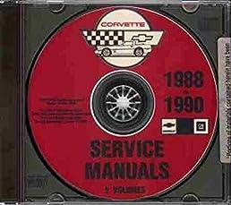 1988 1990 chevrolet corvette service manuals on cd rom gm chevy rh amazon com 1990 corvette factory service manual 1990 corvette owners manual