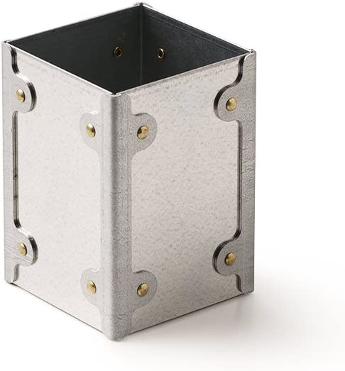 RMP Galvanized Metal Utensil Holder