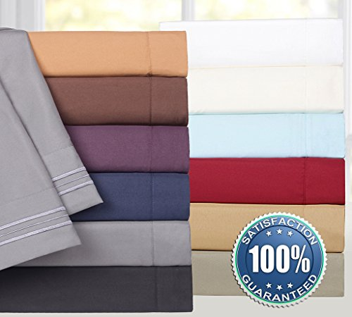 1500 Supreme Collection Extra Soft Queen Sheets Set, Beige - Luxury Bed Sheets Set With Deep Pocket Wrinkle Free Hypoallergenic Bedding, Over 40 Colors, Queen Size, Beige by Sweet Home Collection (Image #6)