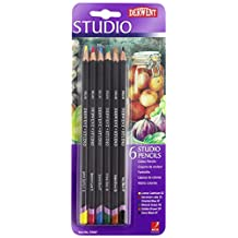 Derwent Studio Colored Pencils, 3.4mm Core, Pack, 6 Count (39007)
