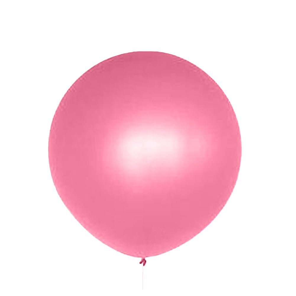 Dds5391 New 36 Inch Perfect Round Inflatable Latex Balloon Wedding Birthday Party Decor - Rose Red