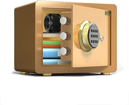 XSJZ Caja Fuerte Mini Caja Fuerte, 25 Cm. Seguridad de Contraseña Montada En La Pared. Micro-costura. Cajas Fuertes (Color : Black): Amazon.es: Bricolaje y herramientas