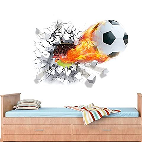 Kids Room Decor Soccer Ball Football Wall Sticker Decal Sport Boy Bedroom Useful N@N (Elsa Palace Throw)