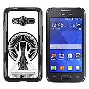 Shell-Star Arte & diseño plástico duro Fundas Cover Cubre Hard Case Cover para Samsung Galaxy Ace4 / Galaxy Ace 4 LTE / SM-G313F ( Building Architecture Space Needle )