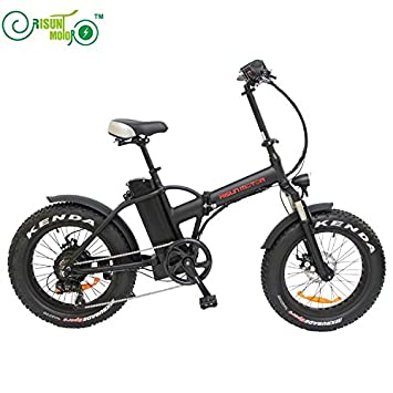 Bicicleta eléctrica plegable con neumáticos gordos, motor de buje 8Fun/Bafang de 48 V