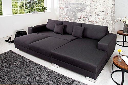 Design Ecksofa COSI Mit Schlaffunktion Dunkelgrau Von CANDY Lifestyle Amazonde Kche Haushalt