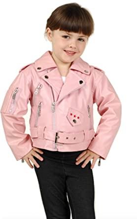 04c28f13a759 Amazon.com  Outoor Habitat Girls Pink Motorcycle Jacket in sizes 2T ...
