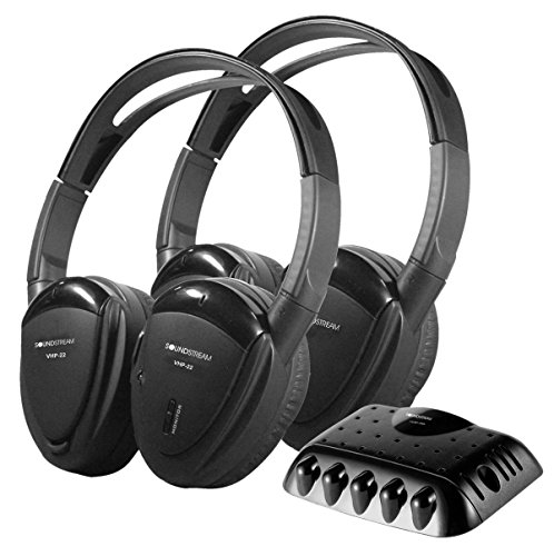 Soundstream VHP-22 2 IR Foldable Headphones with Storage Case
