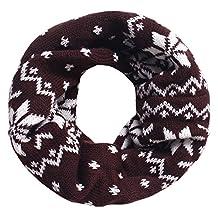Baby Kids Winter Knit NeckWarms Toddler Infinity Scarf Circle Round Shawl,Coffee