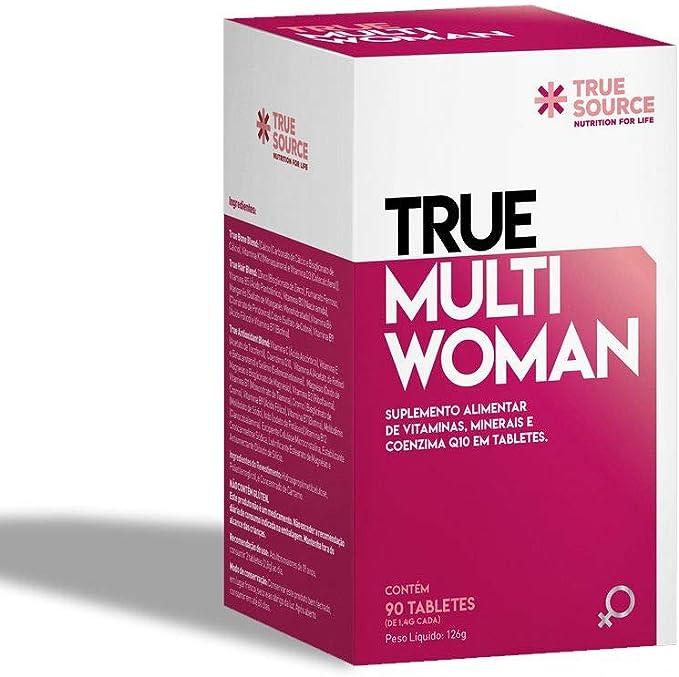 Multivitamínico True Multi Woman com Coenzima Q10 90 tabletes - True Source por True Source