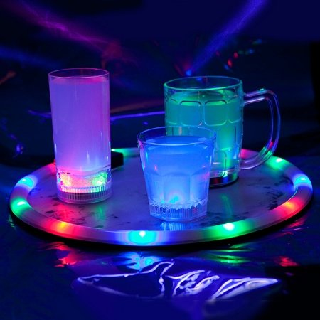 PartyLights Novelty Party Fun Novelty Light Up Serving Trays