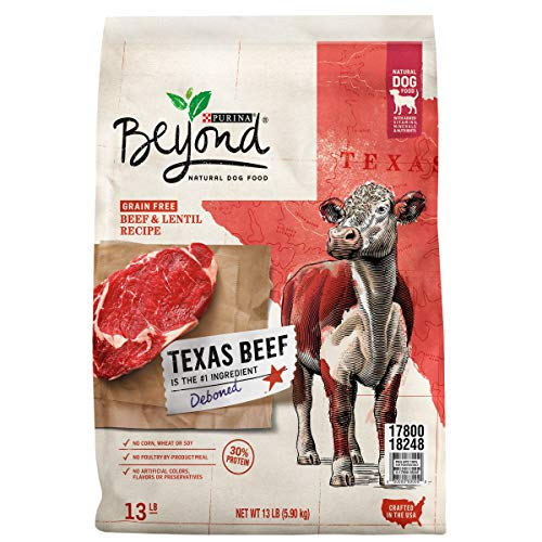 Purina Beyond Grain Free, Natural, High Protein Dry Dog Food, Texas Beef & Lentil Recipe – 13 lb. Bag