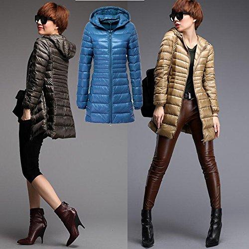 Xfentech Leggero Outerwear Donne Colori Cappotto Inverno Di Disponibili Delle Lungo 10 Piumino Blu arPaq