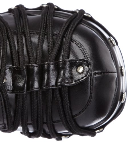 Women's Black 206 Black Biker Charade Demonia Boots qvwR7vx