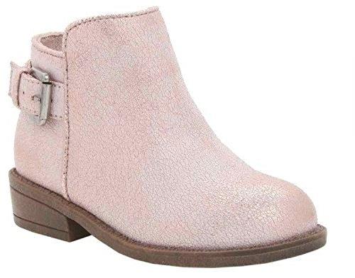 Nina Infant/Toddler Girls' Romela-T Bootie,Rose Gold Metallic Crackle,US 9 M (Footwear Crackle)
