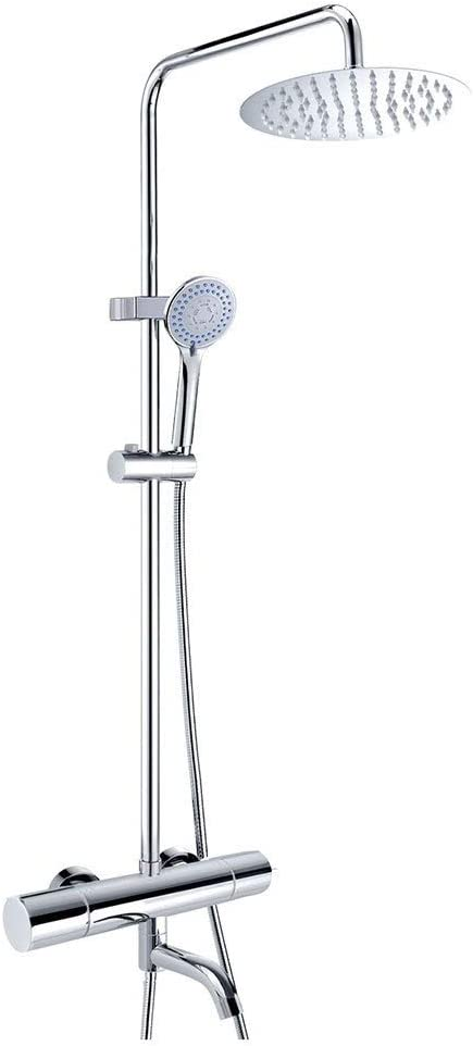 Amazon Com Bathtub Faucets Shower Set Home Smart Thermostatic Shower Set Hotel Multi Function Shower Head Four Seasons Bath Tool Color Silver Size 12030cm Home Kitchen