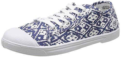 Le Temps des Cerises LTC Basic 02, Damen Sneaker Blau - Bleu (Ikat)