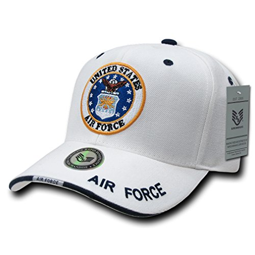 Rapid Dominance Genuine White Military Baseball Caps (Adjustable , US AIRFORCE)