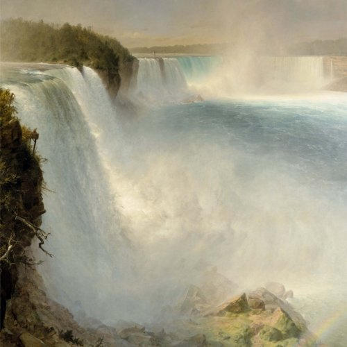 Download Niagara Falls, Frederic Edwin Church. Blank journal: 150 blank pages, 8,5 x 8,5 inch (21.59 x 21.59 centimeters) Soft cover. (Paper notebook, composition book) PDF