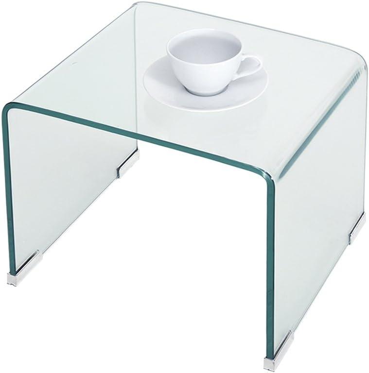 Salle de Bain Salon Bureau ANABELLE Lot de 3 Tables Basses Gigognes Moderne en Verre sur Chambre Transparent
