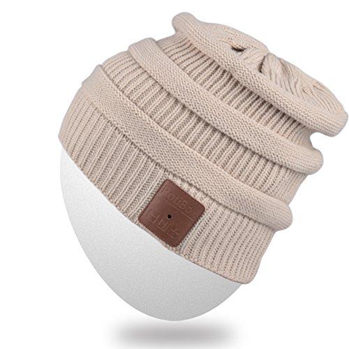 Rotibox Winter Washable Unisex Bluetooth Music Beanie Lux...