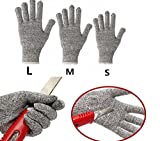 Safety Cut Resistant Butcher Glove, Cut Proof Stab Resistant Stainless Steel Metal Mesh Glove, Level 5 Hand Protection for Men & Women (M)
