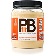PBfit All-Natural Peanut Butter Powder, 30 Ounce, Peanut Butter Powder from Real Roasted Pressed Peanuts, Good Source of Protein, Natural Ingredients