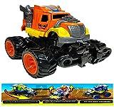 Cool Sprint Bounce Open Stunt Car (Friction Toy Car) (Orange)