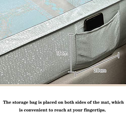 HLD Tapis d'été en Soie glacée Lavable en Trois pièces, Lavable en Machine Cool Pad (Color : N, Size : 1.5m)